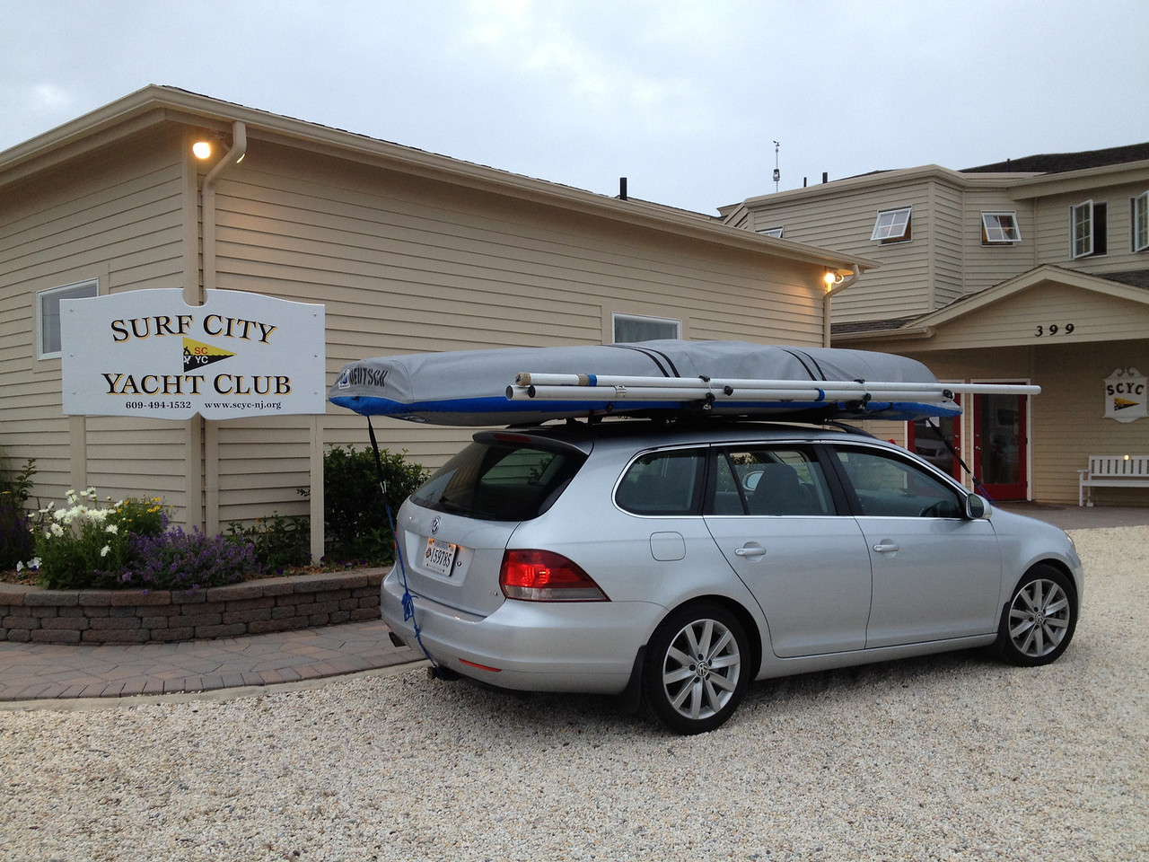 Arriving at Surf City Yacht Club