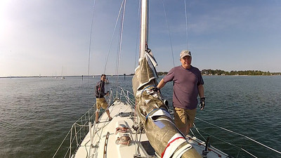 4/14 Opening Day Leaving Jackson creek and getting the foredeck ready.