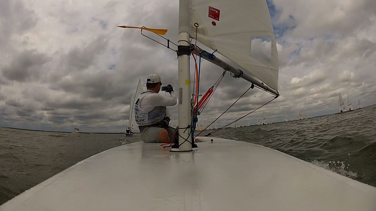 Race 2 - taking a picture while on the reach in 2nd place.