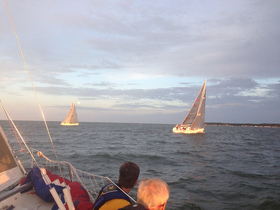6/22 FBYC Moonlight Race - J109s crossing the super moon.