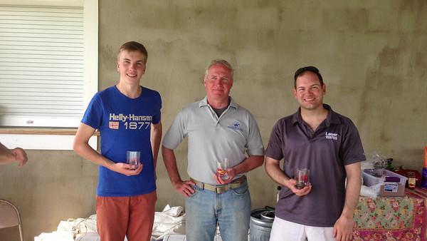 5/11 Corsica River Yacht Club Spring Regatta Laser Winners: 1 Carsten Faubel, 2 Jon Deutsch, 3 Nicholas Place