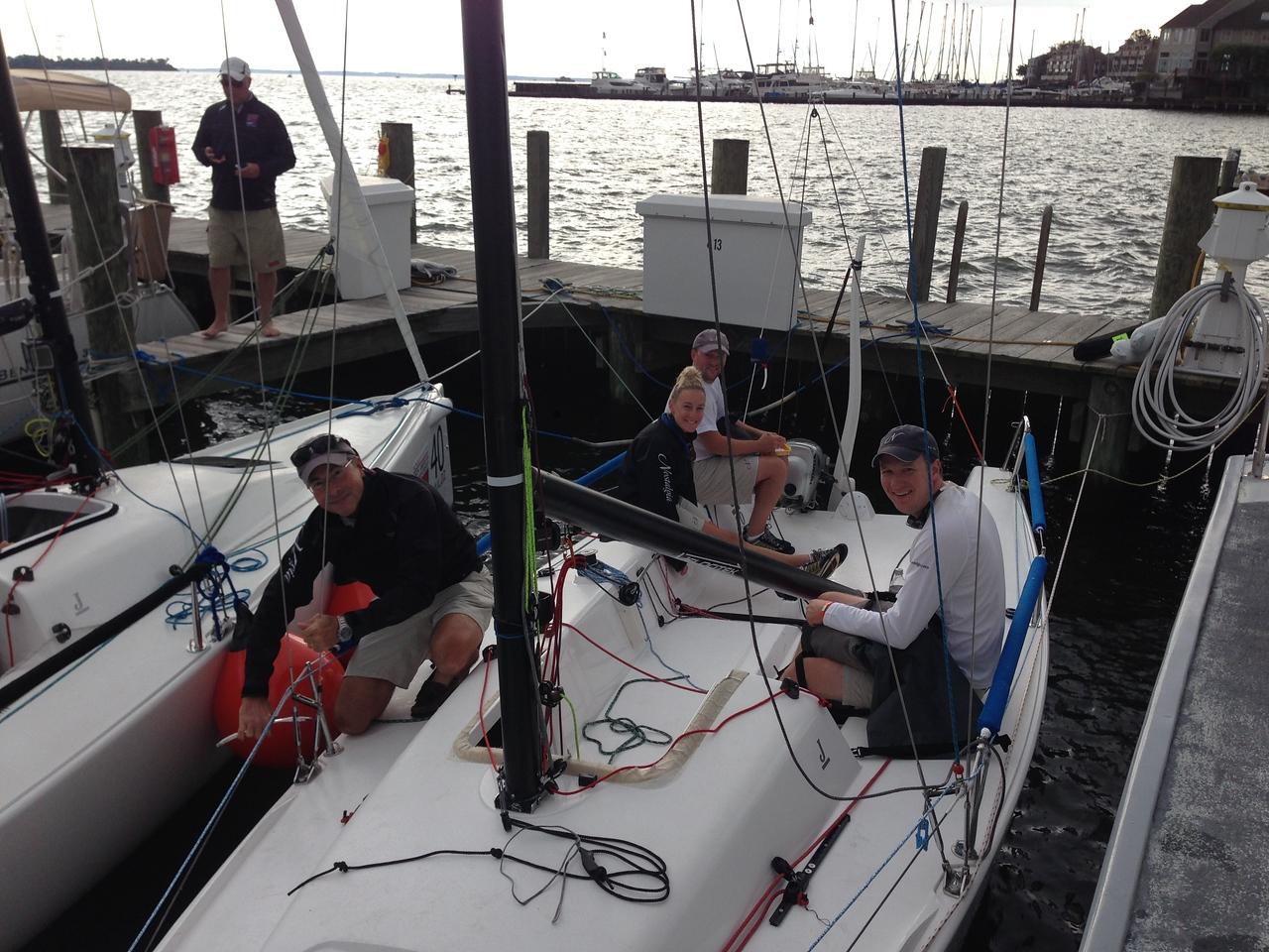9/27/2013 J/70 NAC - Nostalgia - Blake Kimbrough, Lud Kimbrough, Julia, Lee