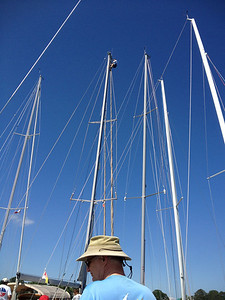 5/24 Open House Regatta Jon Deutsch at the top of the mast to take a picture