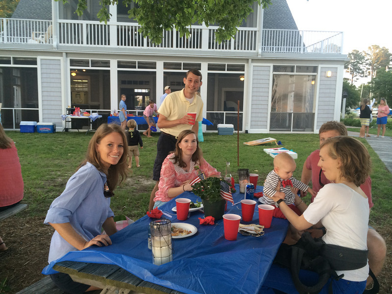 5/23 FBYC Young Adult Member & Guest Cookout Holly Fuller, Cramer Kodel, Abigal Whorley, Massey Whorley