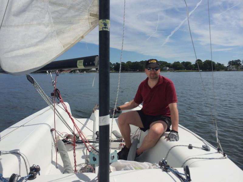 Alan Williamson - first time sailing!