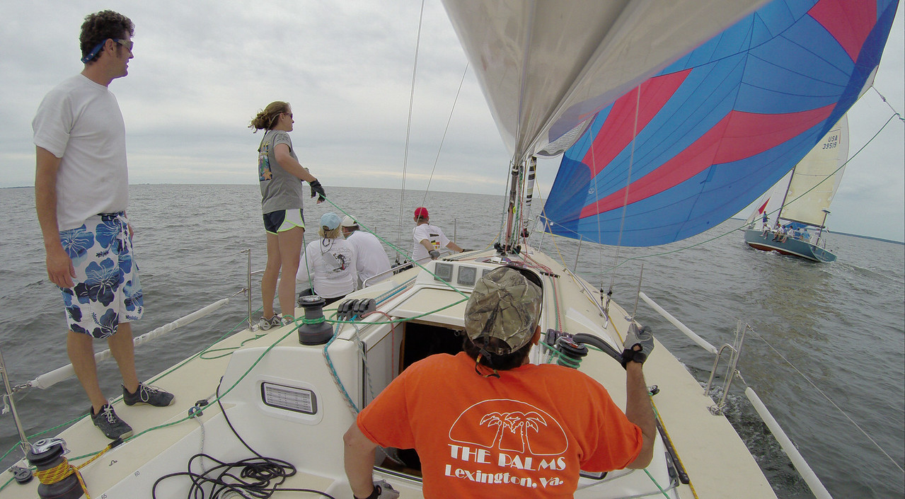 7/19 Mark, Melissa going downwind near American Flier