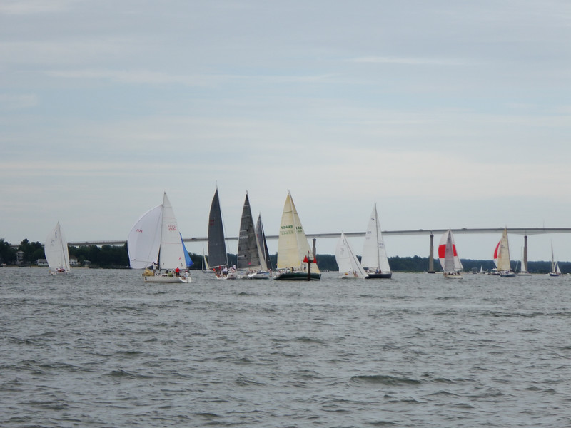 7/19 Bad Cat, Cheetah, and Voodoo all aground in the channel at the turning mark.