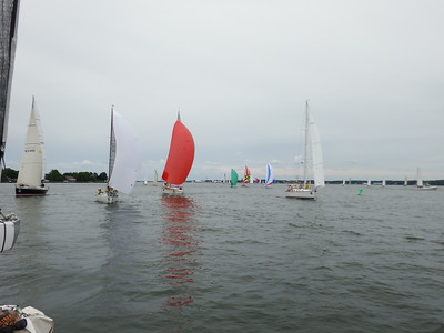 7/19 Boats behind us as we approach the finish