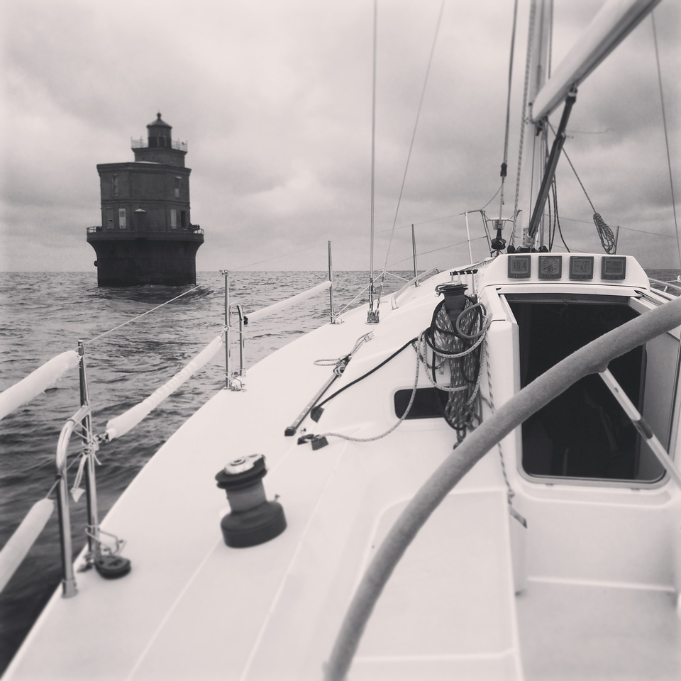 5/29 Passing Wolftrap lighthouse on our way south