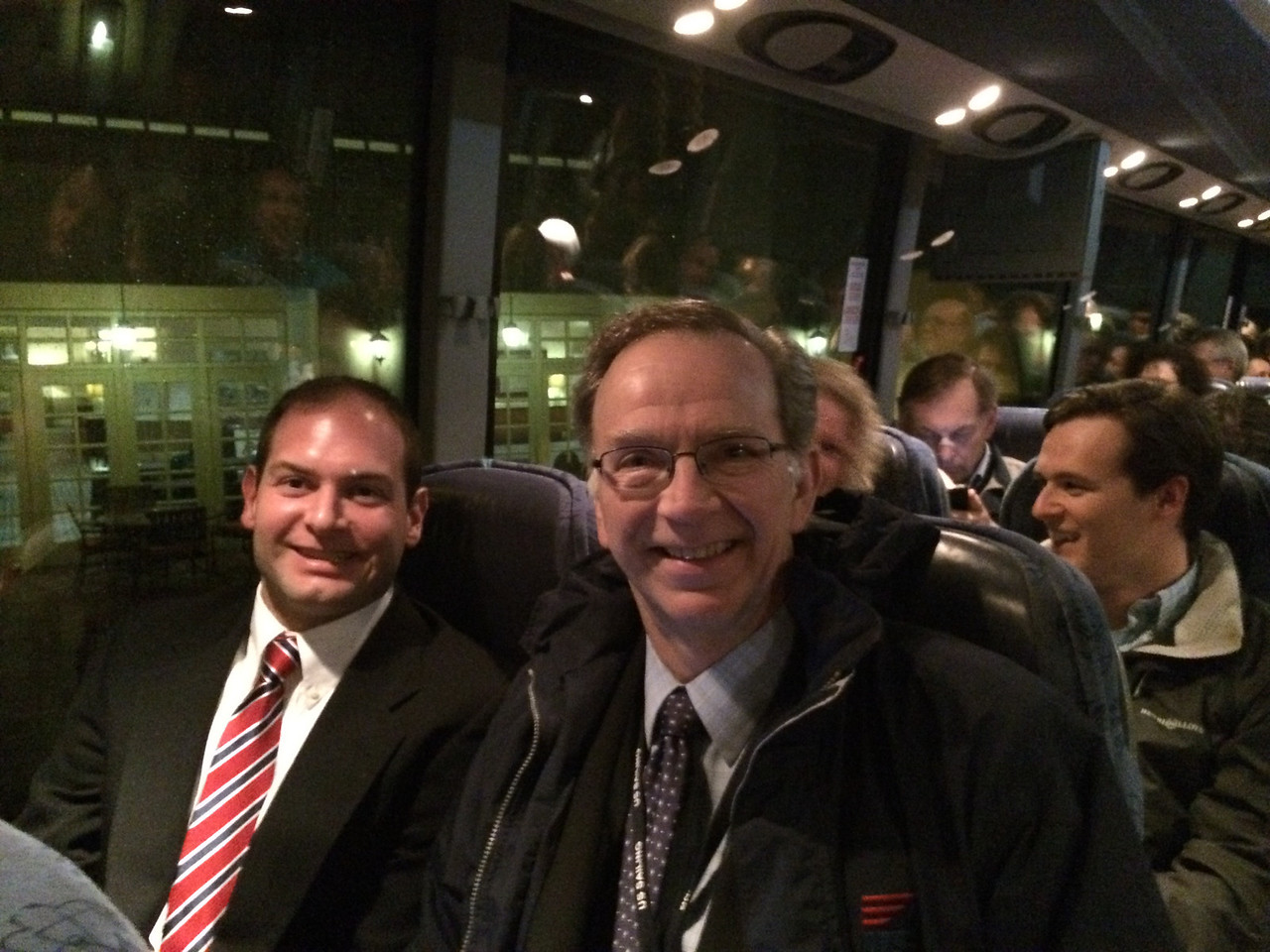 2/6 riding the bus with US Sailing President Tom Hubbell