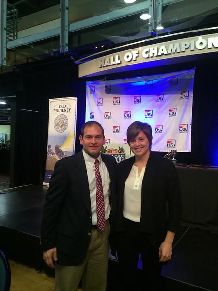 2/6 Jon, my sister Cheryl at the US Sailing Leadership Awards Ceremony