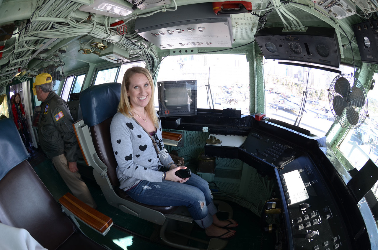 2/5 USS Midway - Karen at the flight controls
