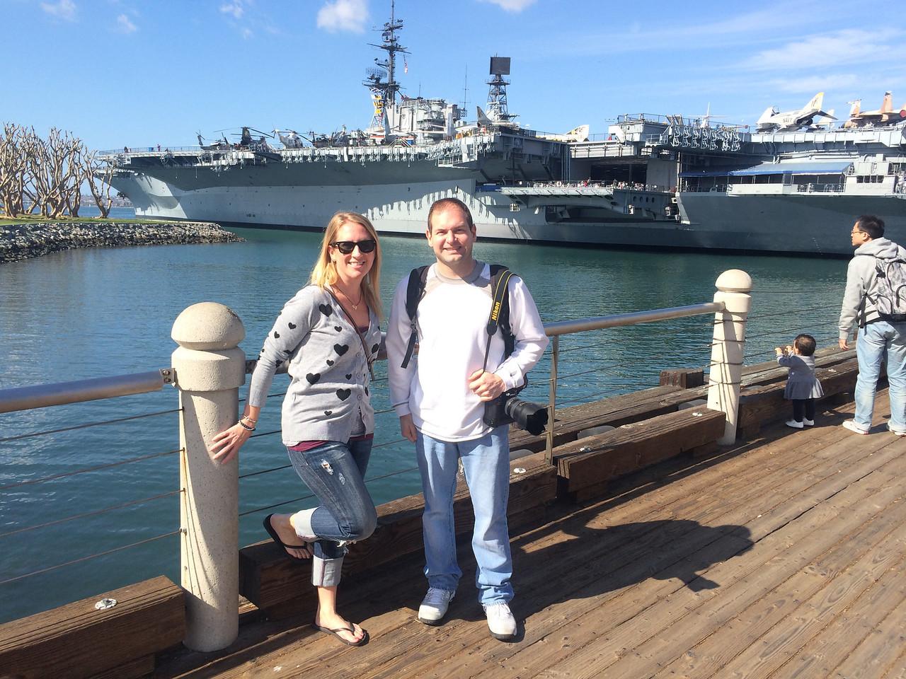 2/5 USS Midway - Karen & Jon