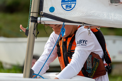 JULY 24th, 2021 - TORONTO ONTARIO CANADA -  Young Optimist sailors participate in the 2021 Seahorse Regatta hosted by the Ashbridges Bay Yacht Club in Toronto, Ontario. (Photo credit: Christian Bonin/TSGphoto.com)