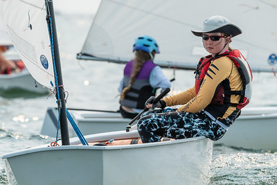 JULY 25th, 2021 - TORONTO ONTARIO CANADA -  Young Optimist sailors participate in the 2021 Seahorse Regatta hosted by the Ashbridges Bay Yacht Club in Toronto, Ontario. (Photo credit: Christian Bonin/TSGphoto.com)