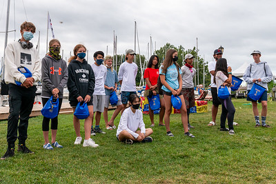 AUGUST 28th, 2021 - TORONTO ONTARIO CANADA -  Young Club 420 and 29er sailors compete in the 2021 Seahorse Regatta hosted by the Ashbridges Bay Yacht Club in Toronto, Ontario. (Photo credit: Christian Bonin/TSGphoto.com)