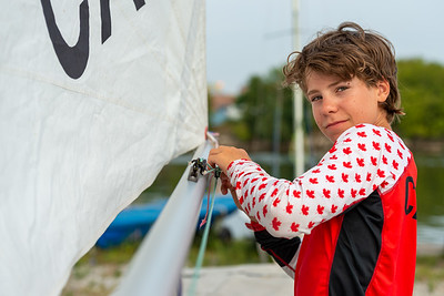 August 21st, 2021 - TORONTO ONTARIO CANADA -  Young sailors compete in day 1 of the 2021 ILCA Seahorse Regatta hosted by Ashbridges Bay Yacht Club in Toronto Ontario Canada. (Photo credit: Christian Bonin/TSGphoto.com)