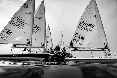 """JULY 18th, 2021 - MISSISSAUGA ONTARIO CANADA -  Sailors of all ages participate in the 2021 """"4 Sisters"""" regatta hosted by the Port Credit Yacht Club in Mississauga, Ontario. (Photo credit: Christian Bonin/TSGphoto.com)"""
