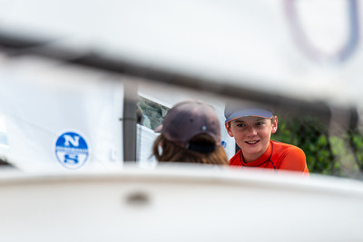 JULY 15th, 2021 - MISSISSAUGA ONTARIO CANADA -  Young sailors participate in the 2021 Steerers regatta hosted by the Port Credit Yacht Club in Mississauga, Ontario. (Photo credit: Christian Bonin/TSGphoto.com)
