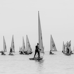 JULY 16th, 2021 - MISSISSAUGA ONTARIO CANADA -  Young sailors participate in the 2021 Steerers regatta hosted by the Port Credit Yacht Club in Mississauga, Ontario. (Photo credit: Christian Bonin/TSGphoto.com)