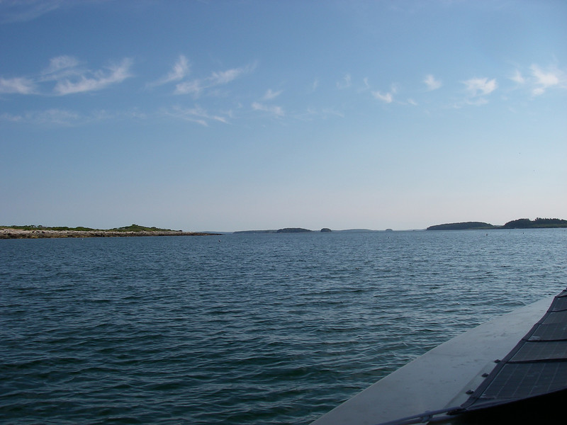 Full daylight, and the islands that were distant are growing closer.