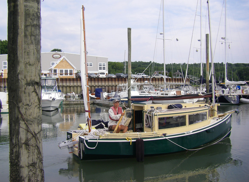 South Freeport Maine – tucked into the north side of Casco Bay.  The best seafood chowder on the entire trip was to be had next door to this marina.  July, 2012.  Photo: Suzanne Jean