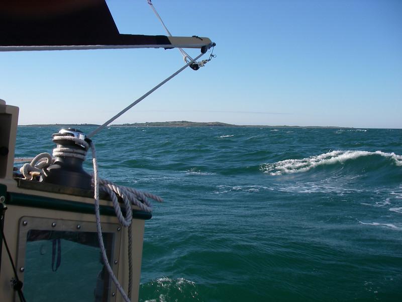 Approaching Cuttyhunk Island.  June, 2012.  Photo: Shemaya Laurel