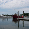 The lobster boat Kathleen Mary, coming into Wickford Shipyard, in Wickford Rhode Island.  Hooray for getting to know Kurt, who crews on this boat!  June, 2012.  Photo: Shemaya Laurel
