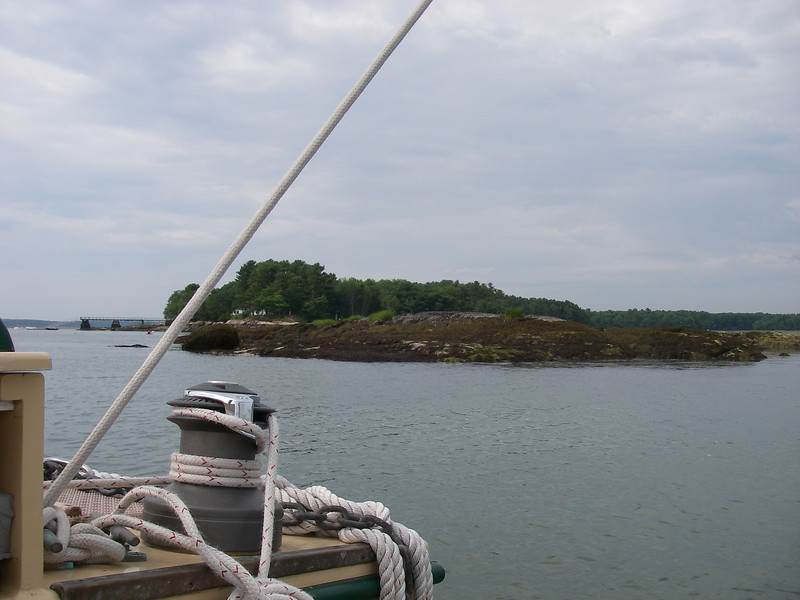 Mouth of the Harraseeket River…