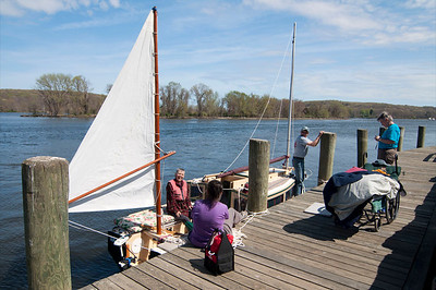 And the best sight in the world – an unoccupied wheelchair on a dock, and a sailboat ready to go!  Photo: Sarah Bliven