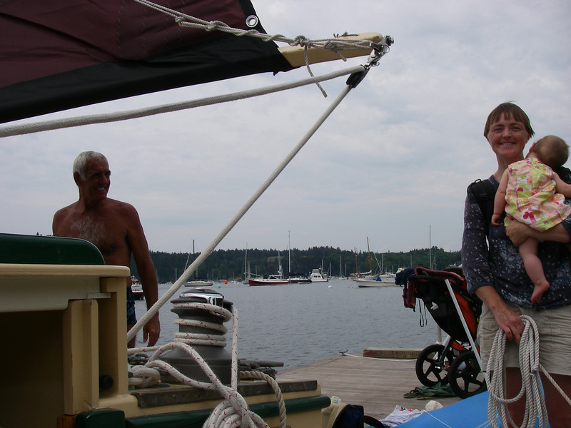 About to sail off the dock in Buck's Harbor…