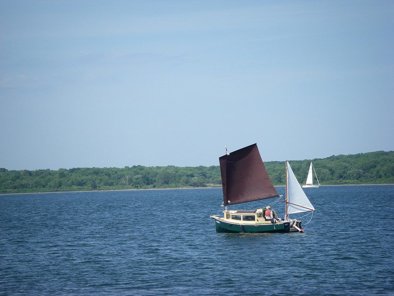 Dutch Harbor, Narragansett Bay, setting out for Wickford.  June, 2012.  Photo: Suzanne Jean