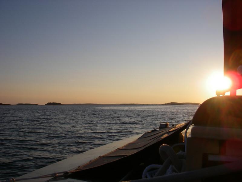 Sunrise over Casco Bay.  July, 2012