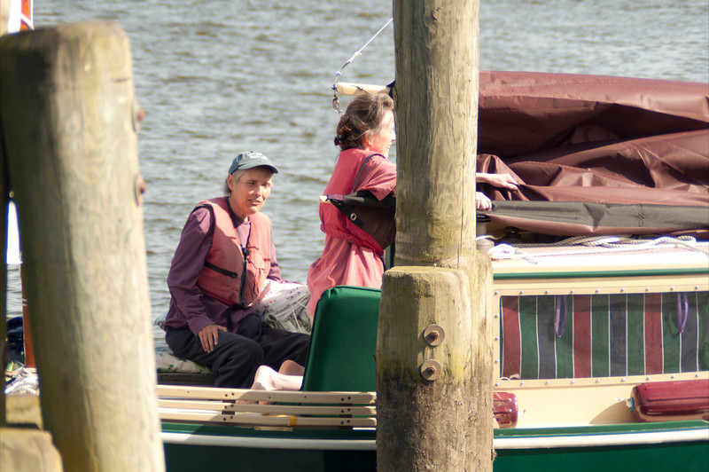 Shemaya and Michele, preparing for departure from Deep River town dock.
