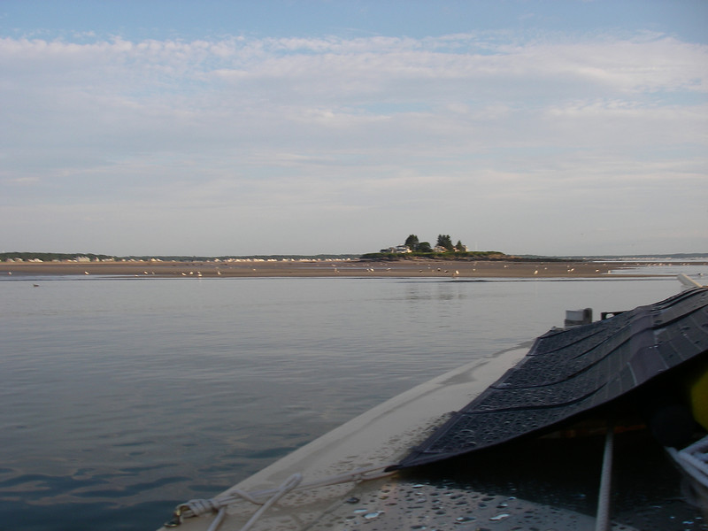 Wood Island Harbor, off of Biddeford.That house is accessible by car only when the tide is out far enough!