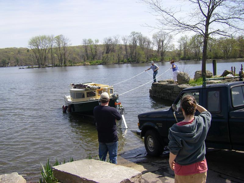 The big launch!  Deep River, Connecticut.  April 20, 2012
