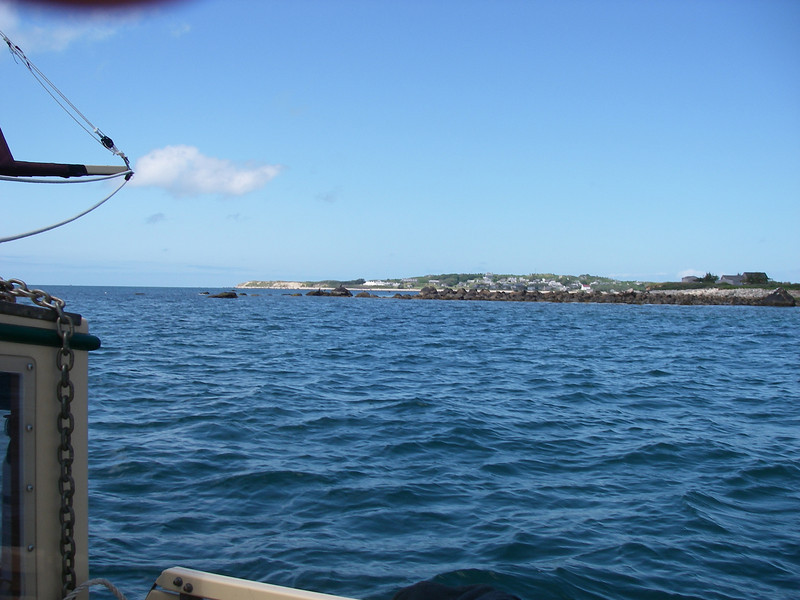 Cuttyhunk Island, and the town, as seen from just outside Canapitsit passage, which leads from Buzzards Bay over to Vineyard sound.  June, 2012.  Photo: Shemaya Laurel