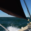 Sailing west, Rhode Island sound, October 2012.