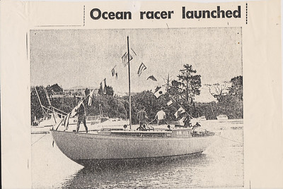 "This is the only surviving image from the launch of ""Beyond II"" at the yard of Mr. Owen Wooley, circa September , 1968.  Photo and story from the Auckland Star."