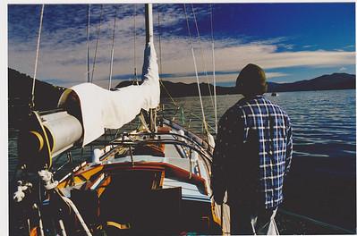 Heading out from Waikawa Marina.