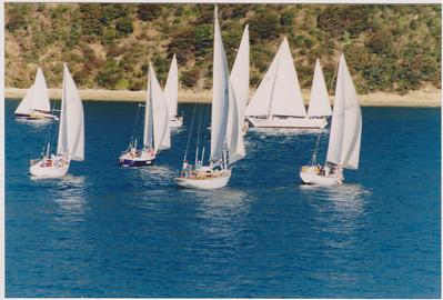 Twilight racing with the Waikawa Yacht Club, Picton, New Zealand.