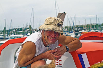 Francis Joyon and IDEC awaiting  Transatlantic Record Attempt
