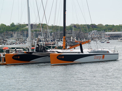 Orange II and Bruno Peyron, Crew and Bruce Schwab