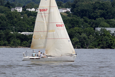 NEWBURGH, NY - JUN 24:  The Chelsea Yacht Club annual Torches Race on the Hudson River held on June 24, 2012.  Photo by Sandy Tambone.
