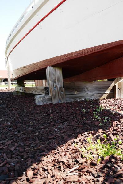 Amazingly flat bottoms on these Chesapeake Bay boats