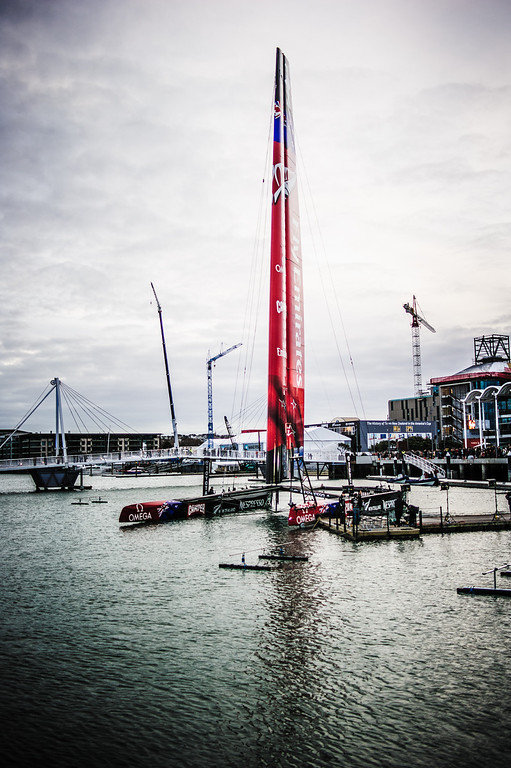 emirates team new zealand ac72 catamaran americas cup launch viaduct basin auckland nikon
