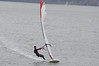 A modern Formula Windsurfing sail. Note the complex leach shape and full belly down low. Steve Bodner making it look easy. Harness on a 12.5 sq meter sail - I don't need no stinkin' harness.