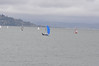 Sausalito in the background. Paul and Howie in the fore. To their credit I did not know this was Paul Cayard and Howie Hamlin sailing when I took the photos. I just said - boy that boats sailin' well - click.