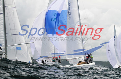 Downwind racing at the Etchells Nationals 2012