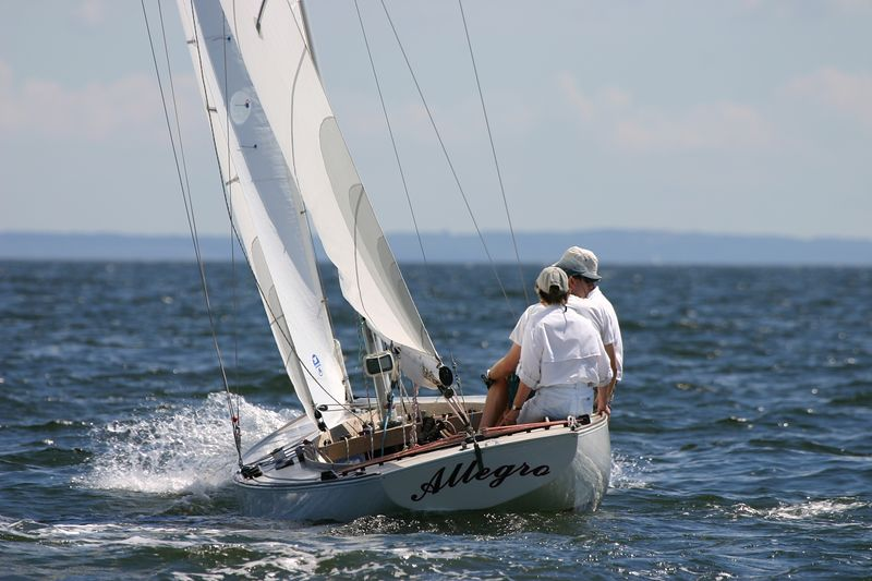 Racing on Long Island Sound, Cedar Point Yacht Club, Westport, CT.